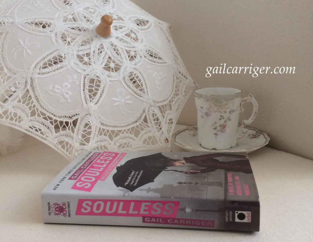 Soulless Gail Carriger Parasol Teacup Spine