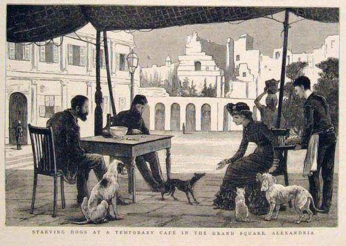 1882 Alexandria Egypt Grand Square Cafe