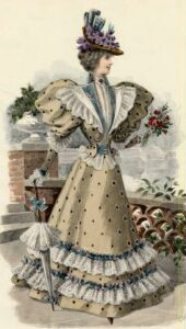 Fashion plate, 1896 via shewhoworshipscarlin