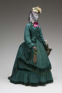 Afternoon dress, 1860, Charlotte, North Carolina. via shewhoworshipscarlin tumblr