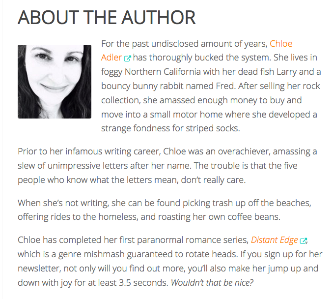 How to Write (and Not to Write) an Author Bio ~ Re-post from Fiction