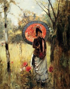1864 Albert Lynch (Peruvian artist, 1851-1912) A Summer Stroll