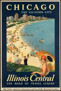 "1930 Oᒪᗪ ᑭᕼOTOᔕ & ᙖᗩᙅOᑎ @photosandbacon 1930s ""Chicago the Vacation City"" Vintage Travel Poster http-_buff.ly_1mqe7Om"