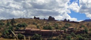 Back: Chokepukio (Wari - Inka) Fore: Hacienda (Colonial)