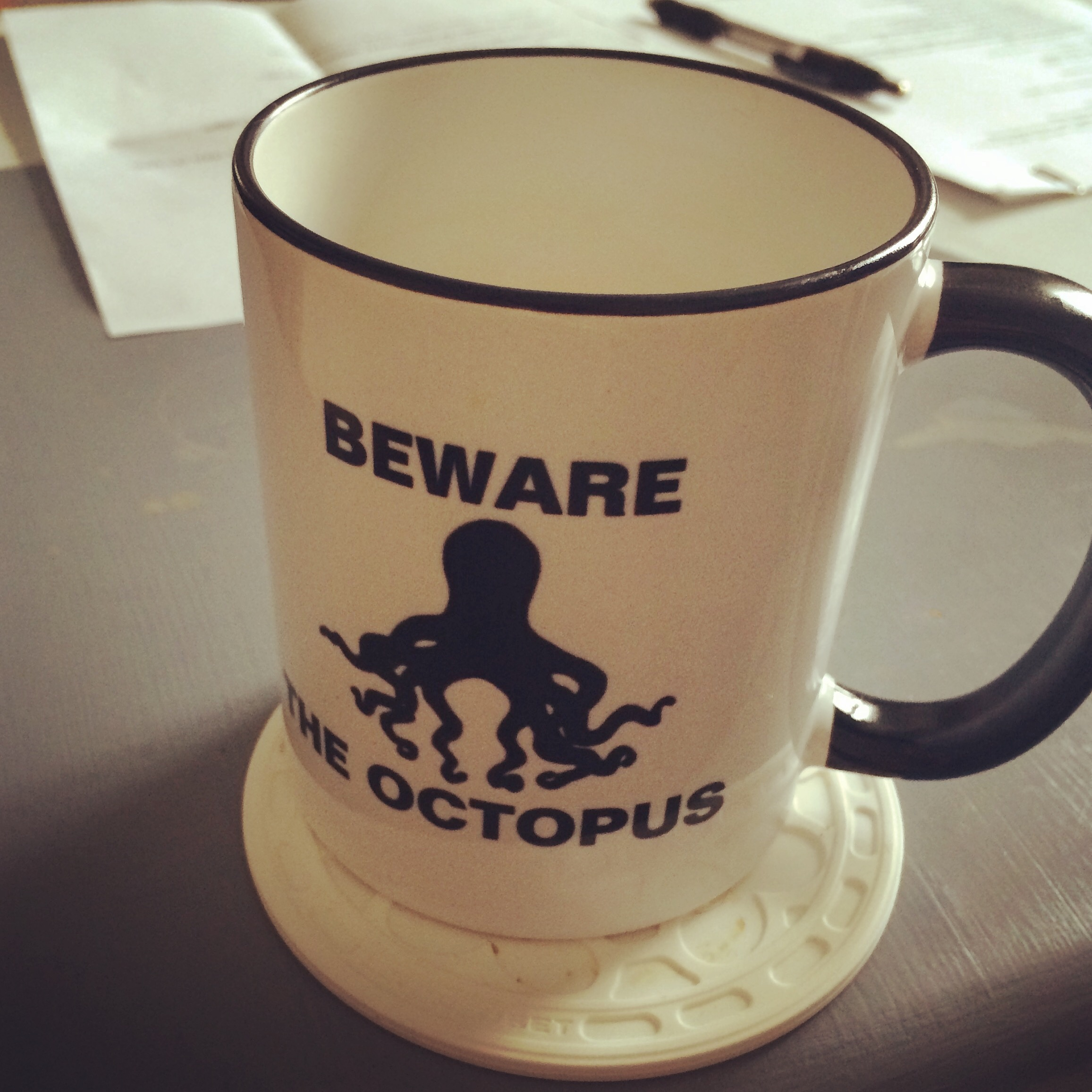 Beware the Octopus Mug merch gail carriger