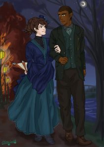 ace-artemis-fanartist- Soap and Sophronia (from the Finishing School series) out for a nighttime stroll