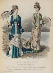 Fashion plate, 1877, France she who worshipscarlin tumblr