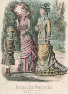 Fashion plate, 1877, France via shewhoworshipscarlin tumblr