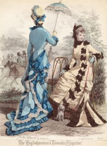 Fashion plate, May, 1877, England via shewhosorshipscarlin tumblr