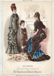 Fashion plate, 1878, England via shewhosorshipscarlin tumnblr