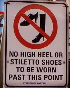 No High Heels Crossing Sign Sidney, Australia