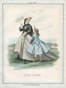 Les Modes Parisiennes Saturday, July 1, 1865 v. 45, plate 5