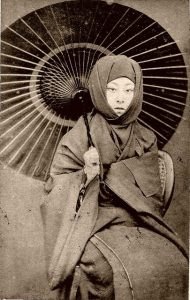 1870s Japan via shewhoworshipscarlin tumblr parasol photo