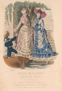 Fashion plate, 1875, France shewhoworshipscarlin tumblr