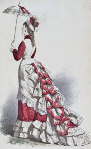 1875 Fashion plate, 1875 via shewhoworshipscarlin