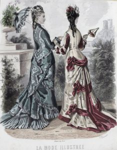 Fashion plate, 1876, France via shewhoworshipscarlin tumblr