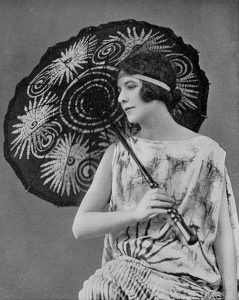 1923 Batik dress and parasol by Madame Pangon, photo by Henri Manuel, Les Modes June 1923. via motyisia tumblr