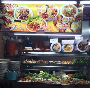 Singapore Hawker Center Food stand