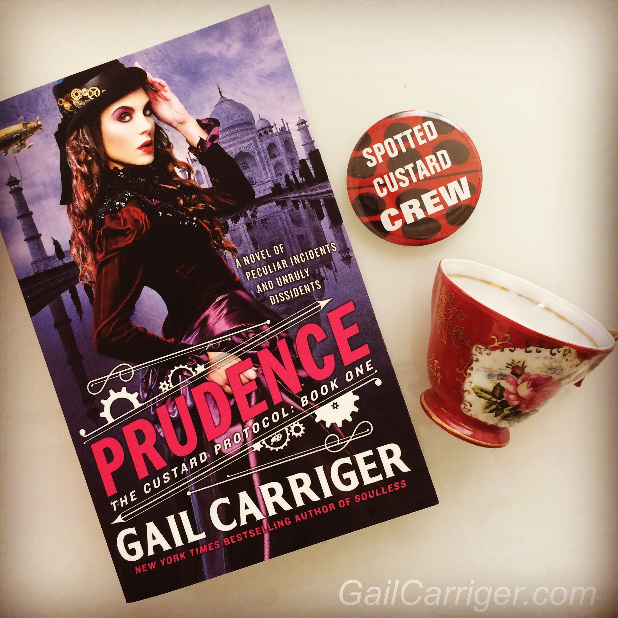 Prudence Teacup Pin Merch Spotted Custard Crew Gail Carriger