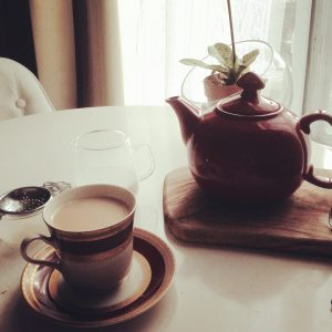 Pretty Tea House Teapot Red Teacup Gail Carriger
