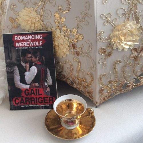RTW Romancing the Werwolf Gail Carriger Parasol Gold Teacup