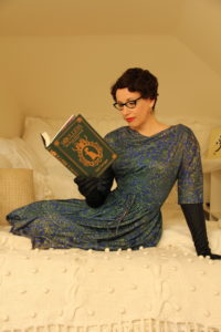 Gail Carriger Reads Soulless Green Office Nook Paisley by Britney Hart