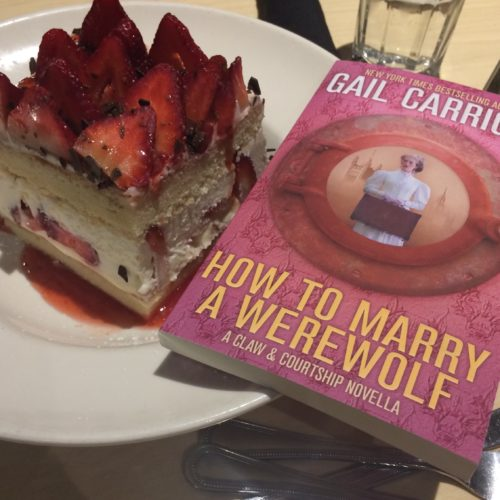 How to Marry a Werewolf Gail Carriger HTMAW cake strawberry huge