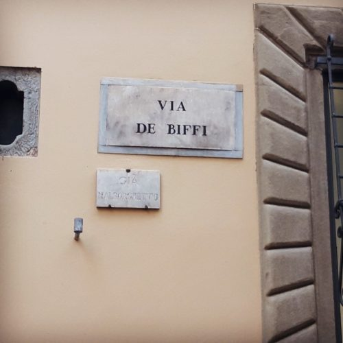 Via de Biffi street of biffy florence Gail Carriger