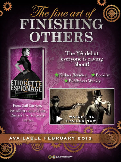 Etiquette Espionage Print Accolades praise Finishing School Gail Carriger Promo