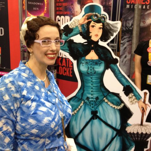 Gail Carriger Blue Standie Manga Changeless Comicon 2012 promo teal