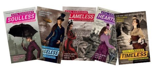 Parasol Protectorate series banner Soulless Changeless Blameless Heartless Timeless Gail Carriger
