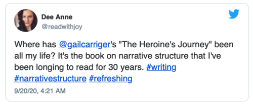 Heroine's Journey Review Quote Twitter