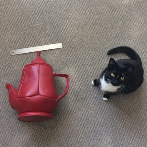 IMAGE: Teapot Purse Massive Red