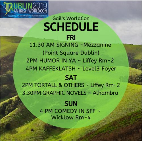Gail Carriger's Dublin WorldCon Schedule 2019