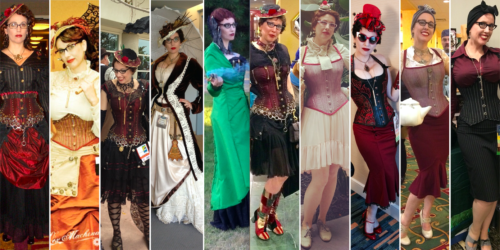 Gail Carriger 10 Years of Steampunk Oufits