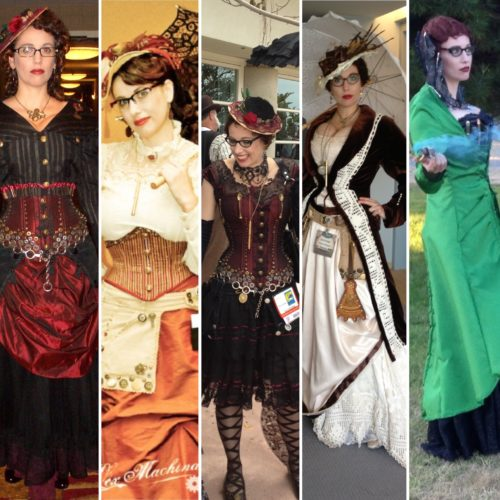 Gail Carriger first 5 years steampunk outfits