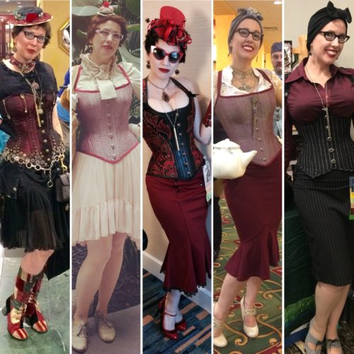 Gail Carriger second 5 years steampunk outfits