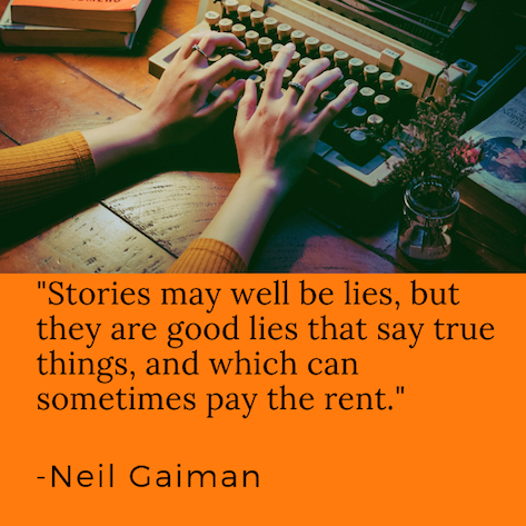 neil gaiman quote stories lies