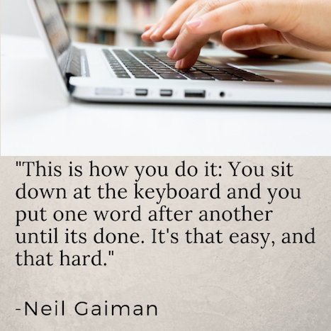 neil gaiman quote how to write