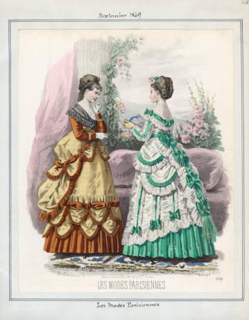 Dimity Les Modes Parisiennes September 1869