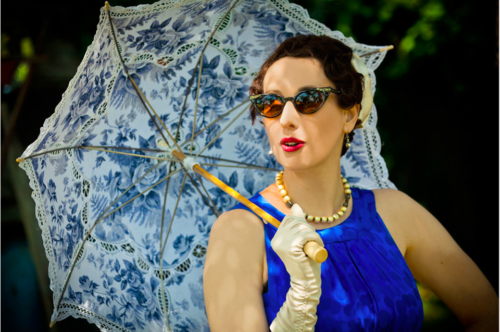 Gail Carriger Parasol Sunglasses Blue