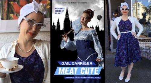 Meat Cute Gail Carriger Blue Purple Flower Teacup White copy