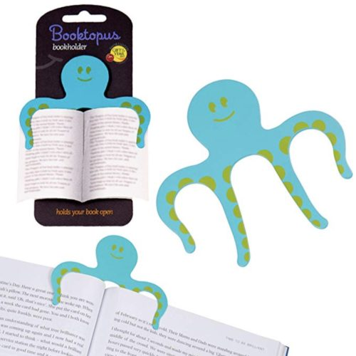 Octopus bookmark page holder blue turquoise