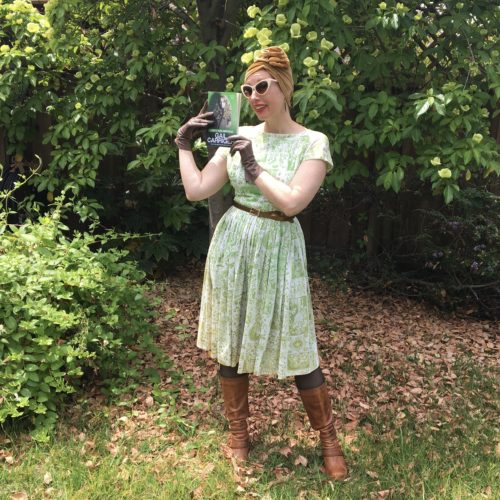 Defy Gail Model Green Vintage Dress Boots Brown Square