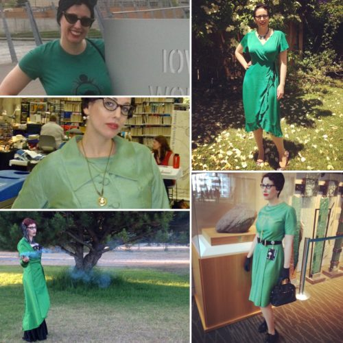 Green Gail Carriger Multiple Outfits Square