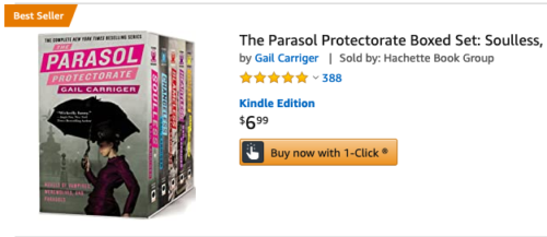 Parsol Protectorate Boxed Set Sale Amazon Best Seller