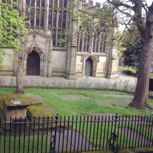 Nottingham Graveyard Church Lace Market Hotel View by Gail Carriger