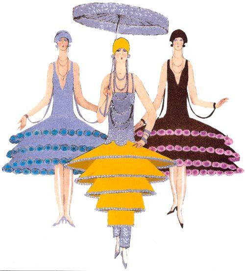 1920 Erte Parasols