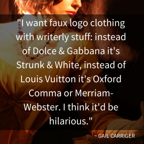 Quote Faux Logo Clothing for Writers Gail