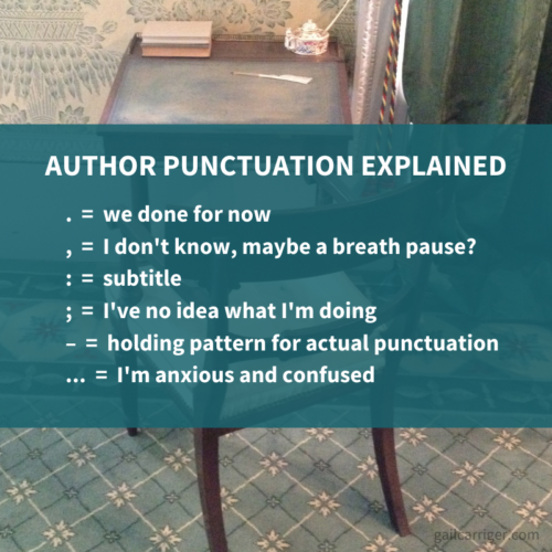 Gail Carriger Author Punctuation Explained